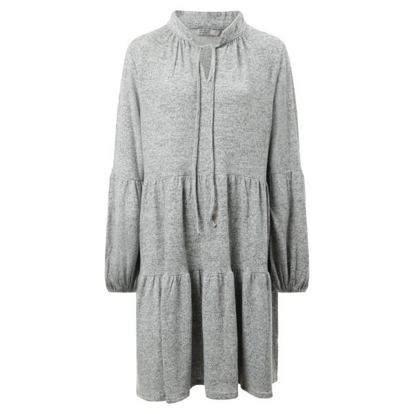 Volant Kleid grau Wollstoff