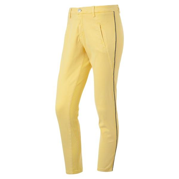 DOLORES 7 Hose gelb mit Blingstreifen