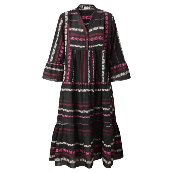 Kleid lang gemustert