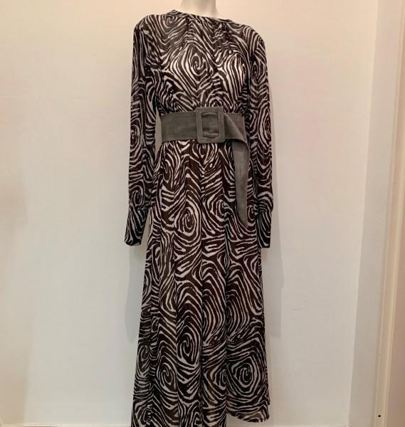 Kleid schwarz-weiß Größe S/M