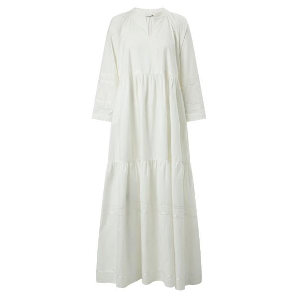 Long Dress off white bestickt