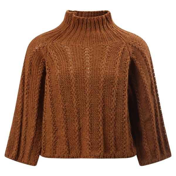 Pullover Stehkragen senfgelb