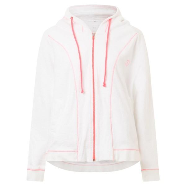 Phil&Lui - Sweatjacke - Frottie - weiß - neon pink