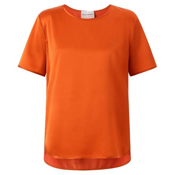 Basic Shirt FArbe ruby Rundhals