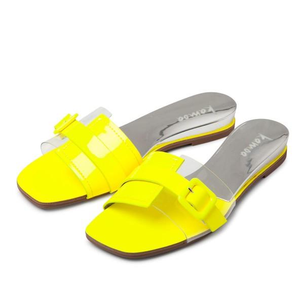 Sandalen Neon Gelb