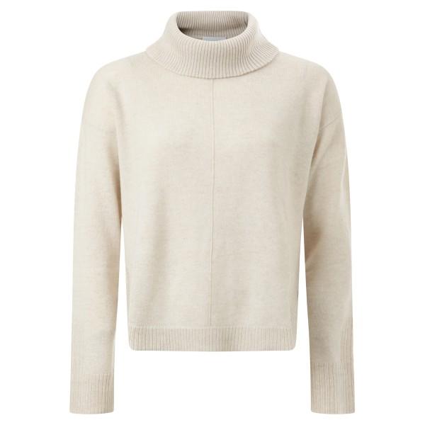 Pullover Rollkragen almond