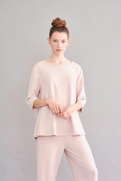 Shirt rose A-Line 3/4 Arm fließende Modalware