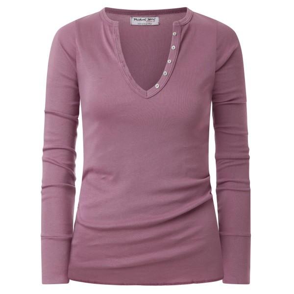 lila - Basicshirt - Langarm - V-Neck
