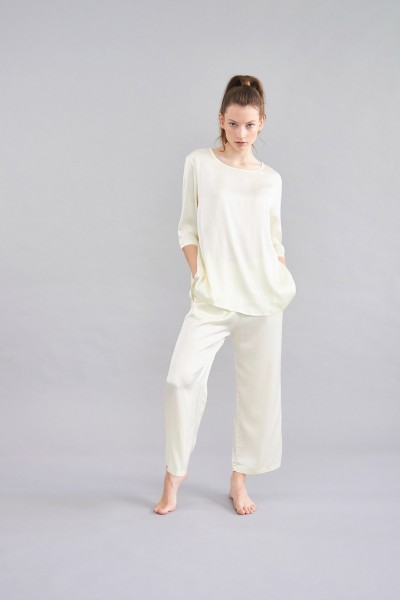 Pyjama Hose Gelb Gummibund