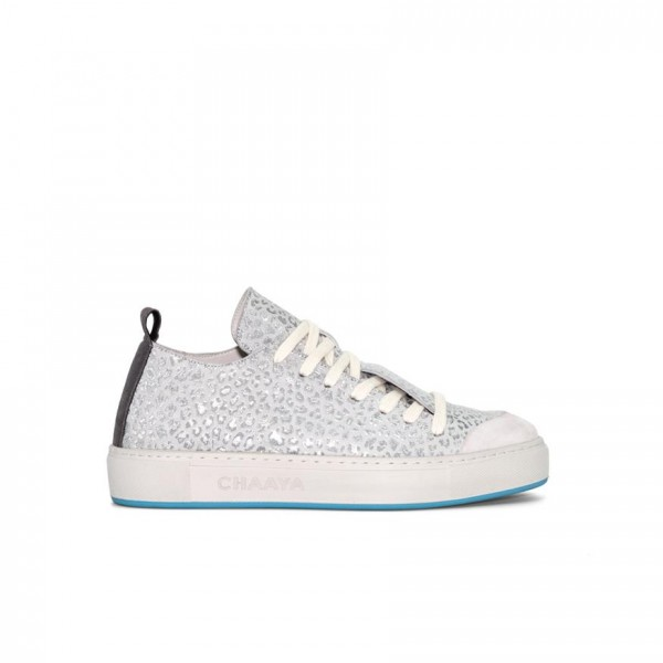 Sneaker - Leder - silver - metallic Prägung