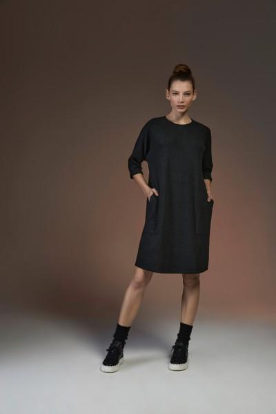 Shirtkleid 5 black Modal