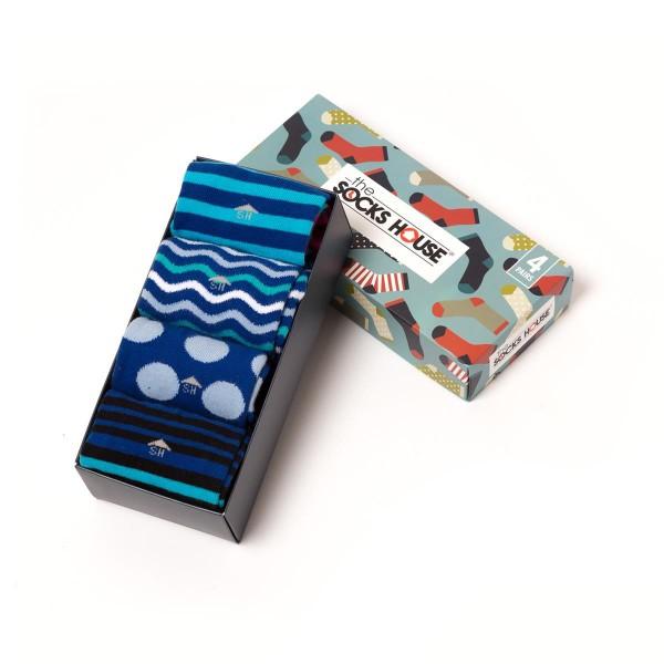 4er Pack - gemusterte Socken - blau