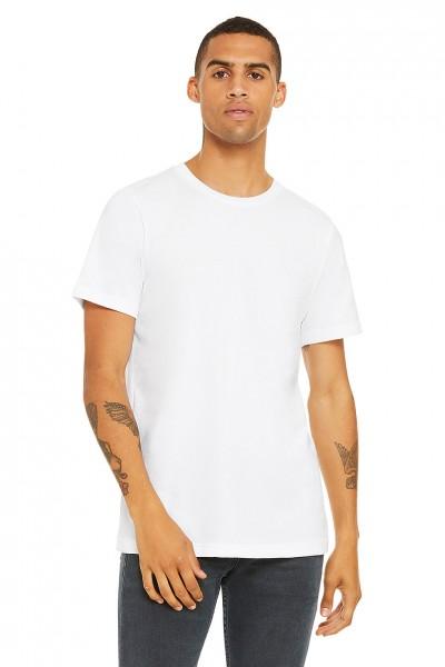 Basicshirt - Rundkragen - weiß