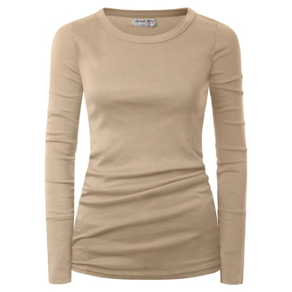 Long Sleeve beige Rundkragen