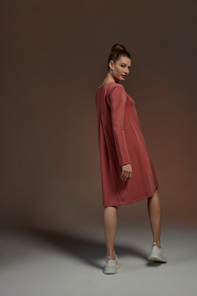 Shirtkleid A-Linie V-Neck