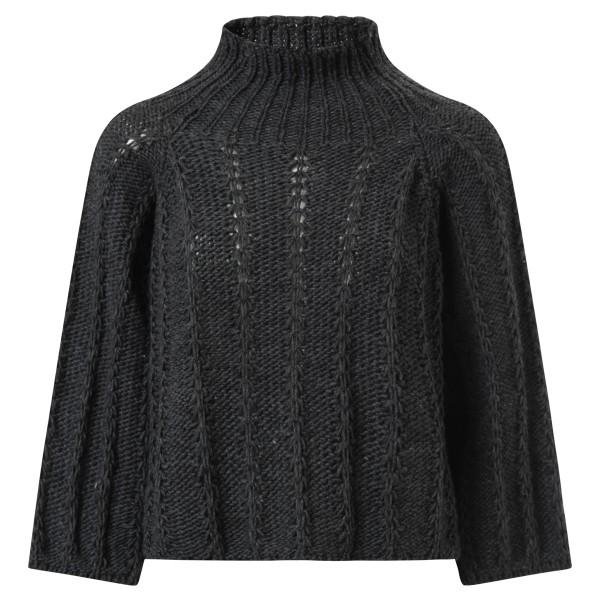 Pullover Stehkragen dunkel grau