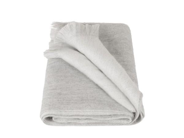 Schal Double Light Grey/White