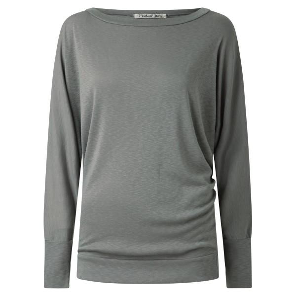 Shirt lang Arm grau oversize