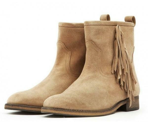 Wildleder Boots - Fransen - halbhoch