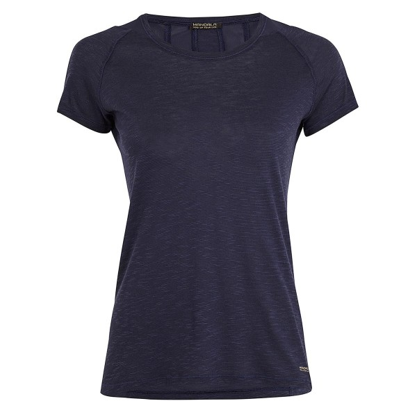 Shirt mit Mesheinsatz marine