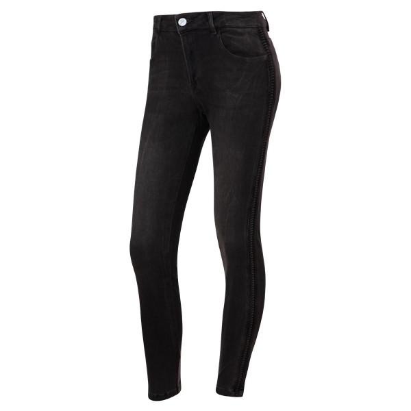 schwarze jeans - geriffelter seitenstreifen