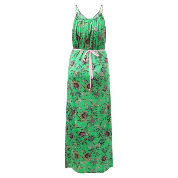 Paisley long dress green