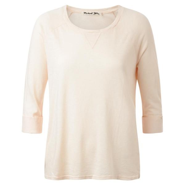 Shirt - lachsfarben - Rundkragen - 3/4 Arm