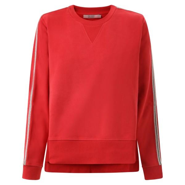 Sweater rot mit Ziernaht am Arm