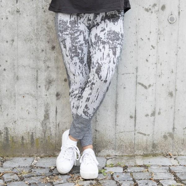 Sweatpant - vintage style - grau gemustert