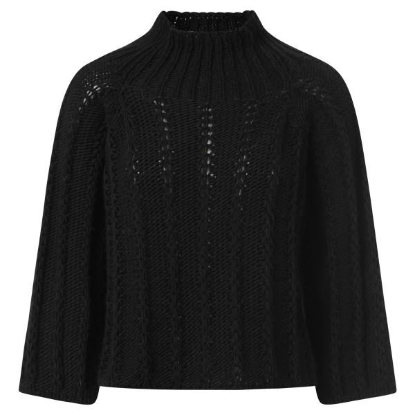 Pullover Stehkragen schwarz
