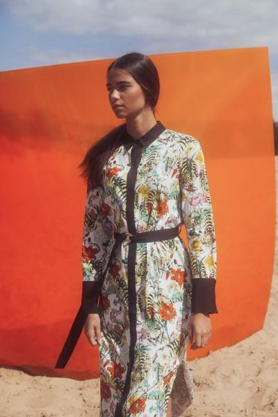 Wunderschönes Blusenkleid zum knöpfen mit Print