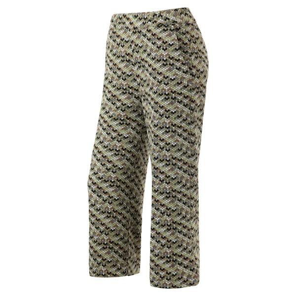 Muster grün mit Erdtöne - Culottehose - toll zum kombinieren!