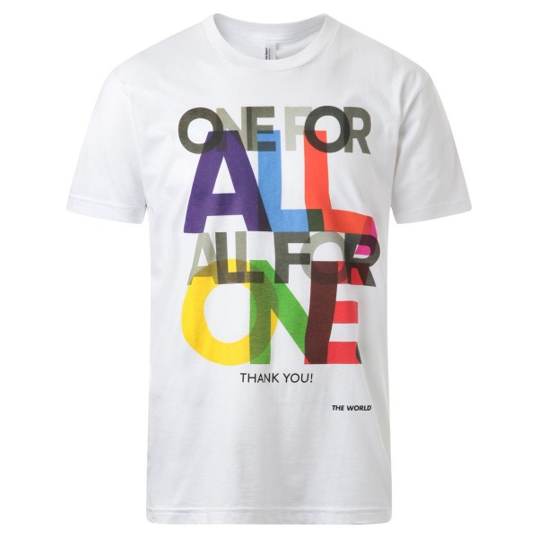 T-SHIRT weiß - Print ONE FOR ALL bunt