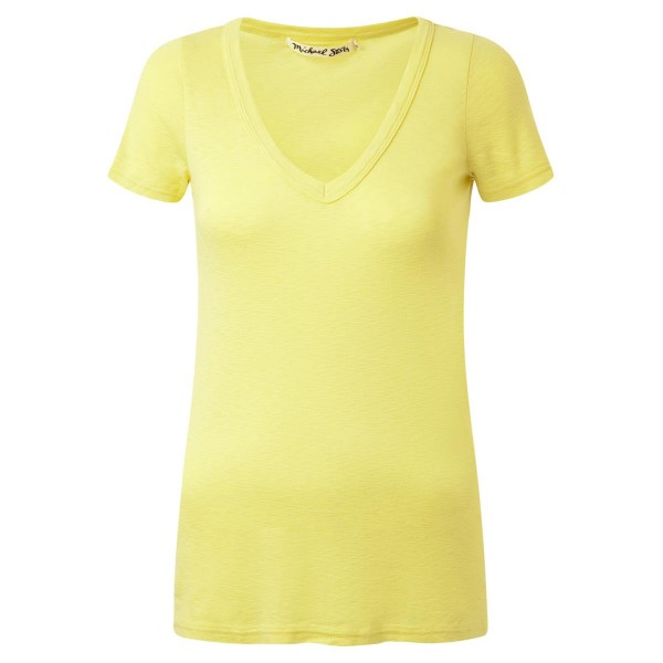 T-Shirt - V Neck - gelb - basic