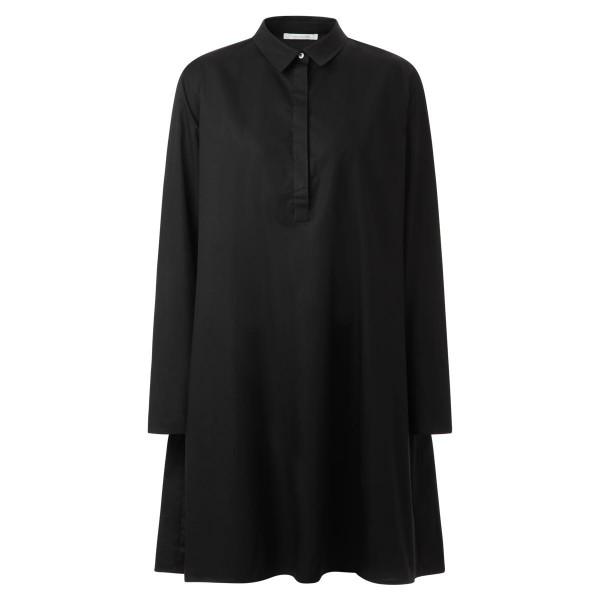Blusenkleid - A-Linie - schwarz - Kragen