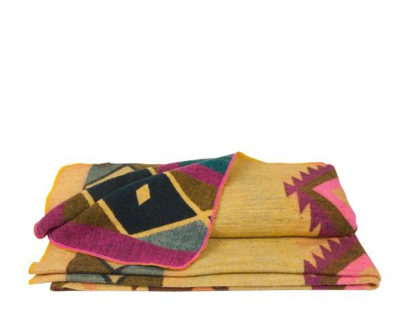Alpaca Decke Handmade Oker