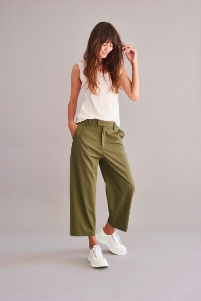 Culottehose grün lässig