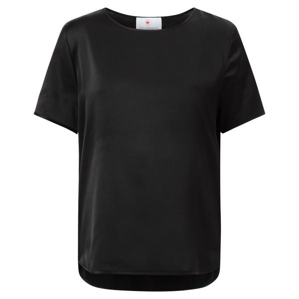 Blusenshirt Seide schwarz