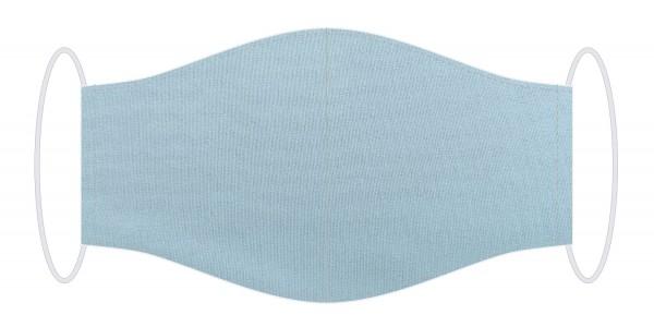 Seidenmaske blue - silver