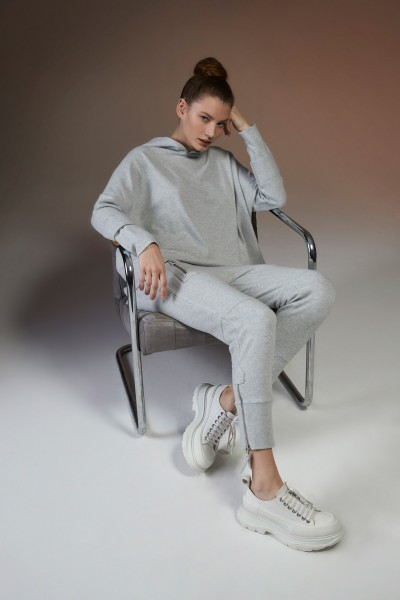 Shirt 96 Hoodie grey Jersey