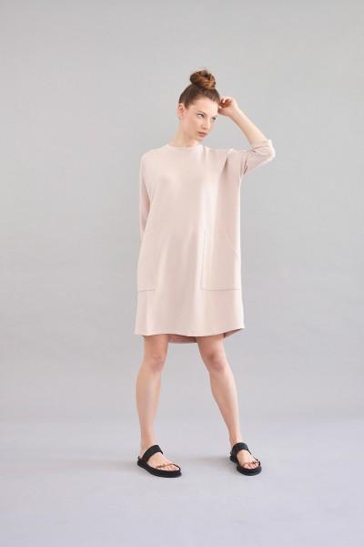 Shirtkleid aus fließender Modalqualität rose