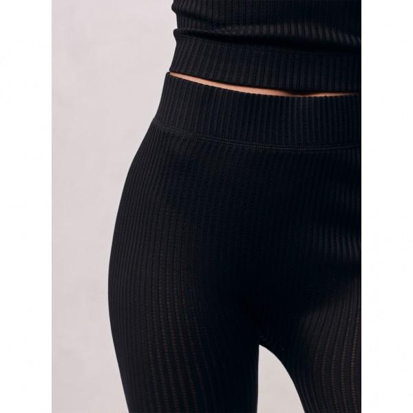 Leggings Seide black