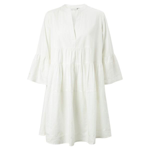 Short Dress off white bestickt