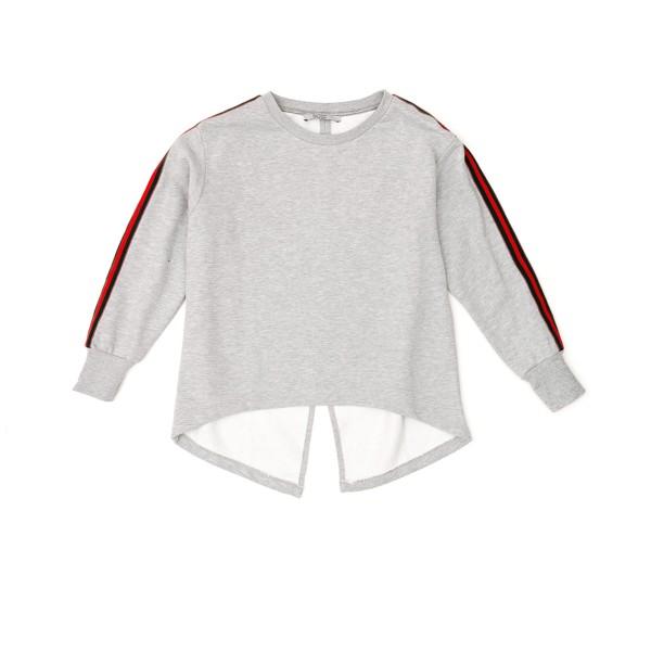 Sweatshirt Multistripe grau