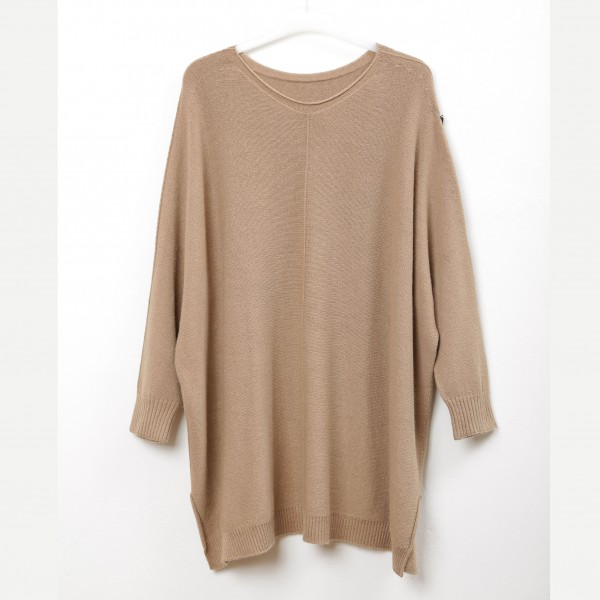 Oversized Pullover beige