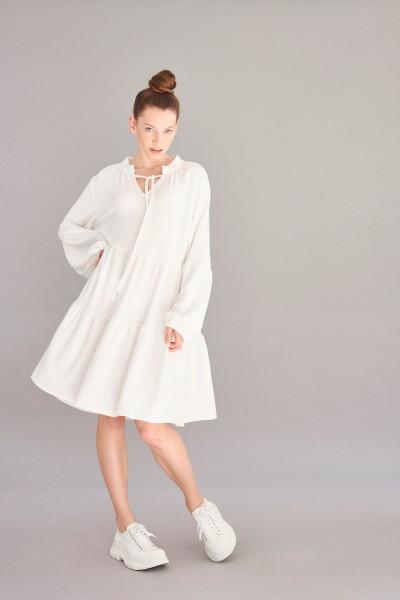 Volantkleid Cashmere Touch white