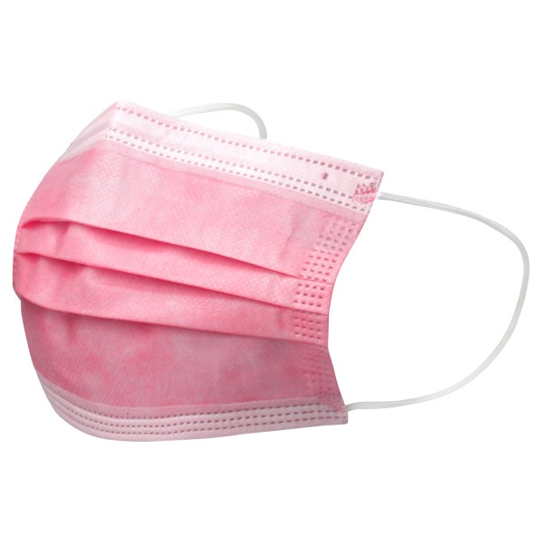 Einweg Mund- und Nasenmasken rosa 3-lagig