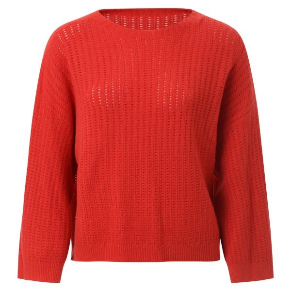 Pullover rot Lochmuster