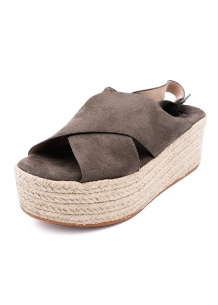Sandaletten/Espadrilles taupe