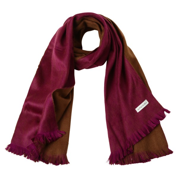 Schal Double Violet & Chocolate Brown